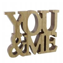 You & Me MDF Standing Plaque